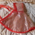 Vintage Vogue Ginny Doll REd Polka Dot Raincoat with Hood