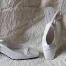 "Naturalizer White Leather Slingback Shoes  ""Nichole"" 7.5  2"" Heel"