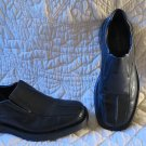 Men's Fabulous Black Leather Structure of Italy Loafers Slip on Shoes Size 9 D