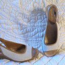 AWesome Aerosoles Wedge Peak Toe Sling back Shoes Size 9.5