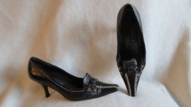 Cool Black Leather Steven Madden Shoes Size 6