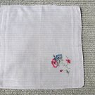 011 Amazing Embroidered Flowers and Applique Vintage Handerchief Hankie