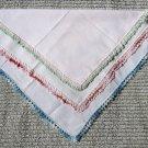 002 Beautiful Lot of 3  Vintage lace Crocheted Handerchief Hankie