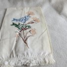 007 Cute Birds on thie Hand Painted Vintage Hand Towel Linens