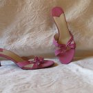 Gorgeous Nine West  Super Feminine Pink Leather Slides Mules Shoes Size 9