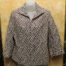 NEW Tags Chico's Brown & White Josephina Jacket With A Chocolate Chip Pattern  S