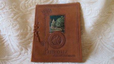 Leather Bound Purdue University Gala Week 1911 Graduation Ceremonies Program