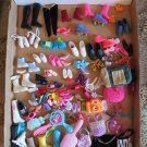 Huge Lot of 138 total pieces of Vintage Barbie and unknown Doll Accessories
