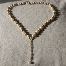 Vintage FAux Pearl and Gold Tone Necklace Quite Beautiful