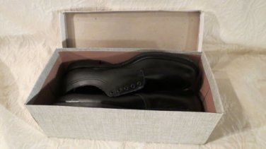 NEW Men's Leather Oxford Protector Black LEather Oxford Safety Shoes Size 11.5D