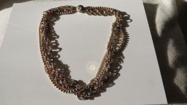 Magnificent MultiStrand Gold tone Necklace Quite Amazing