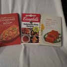 Lot of 3 really Cool Vintage 60's Campbell CookBooks 1 90's