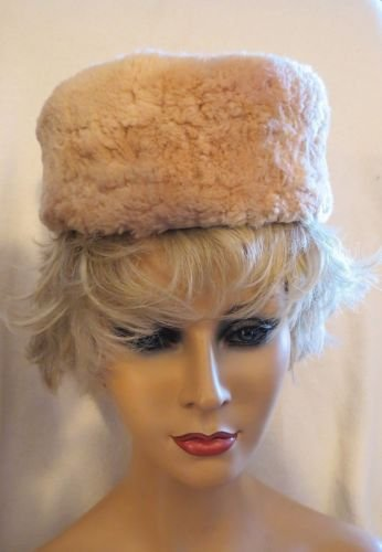 Exquisite Sheared Tan Beaver  Vintage Hat