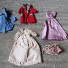 5 Vintage Gorgeous Couture Custom Handmade Barbie Clothing Coat Evening Dress +