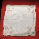 White cut Out embroidered True Vintage Handkerchief Hankie