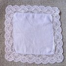 Vintage Stunning Lace Wedding Handkerchief Hankie