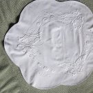 The Most Gorgeous Hand Embroidered Butterflies on Thie VERY Vintage Table Cloth