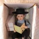 """The Danbury Mint Amish """"Joshua"""" Doll &  """"Sparky"""" The Dog By Fayzah Spanos In Box"""