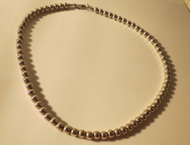 Gorgeous All Sterling Silver Beads on This Quite Amazing Necklace