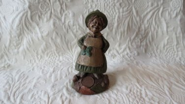 TOM CLARK Figurine Colleen The  Irish Cook 1987 Retired PECAN RESIN GNOME