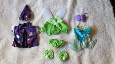Lot Of 8 Build-A-Bear Outfits Disney � Tinkerbell, Ariel, Harry Potter