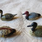Lot Of 4  Vintage  Miniature Duck Decoys ADorable Figurines