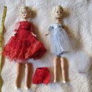 Lot Of 10  Vintage Doll Parts Dresses Accessories Neat pieces