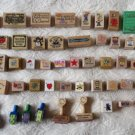 Super Cool HUGE lot of 48 Ruber Stamps Scrap Booking Crafts Decorating Teachers