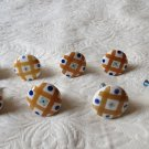 Lot Of 8 Ceramic Handpainted Decorative Cabinet Door Pulls  Door Knobs