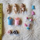 Lot Of 14 Totally ADorable baby Shower Doll Favors Accessories