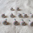Lot Of 14 Gorgeous Ceramic Handpainted  Decorative Cabinet Door Pulls Knobs