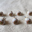 Lot Of 10 Ceramic Decorative Hand Painted High End  Cabinet Door Pulls Knobs