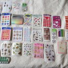 HUGE LOT Tons of Sheets ANd Sheets of Assorted Stickers Around 41 Sheets