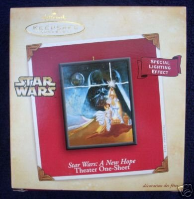 bRAND NEW IN BOX 2004 Star Wars Theater one sheet Hallmark Ornament A New Hope