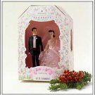 BRAND NEW IN BOX 1997 Barbie and Ken Wedding Day Ornament Set