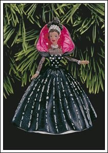 BRAND NEW IN BOX 1998 African American Holiday Barbie Hallmark Ornament