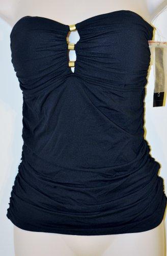 Black strapless swim top size Medium