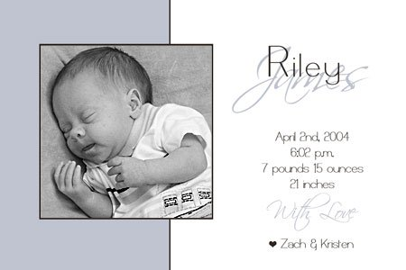 50 Adorable Photo Birth Announcements!