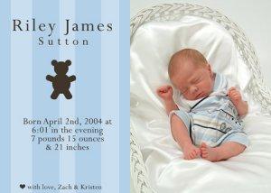 50 Adorable Photo Birth Announcements!