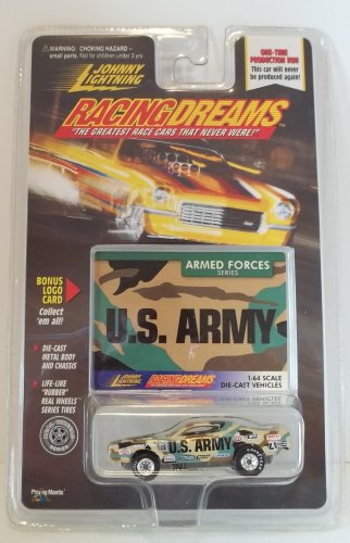 JOHNNY LIGHTNING RACING DREAMS ARMY ARMED FORCES SERIES DODGE CHARGER NRFP