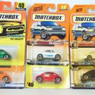 MATCHBOX 6 CAR LOT VW CONCEPT 1 BEETLE CONVERTIBLE #42 #18 #81 #49 #17 #49 NRFP
