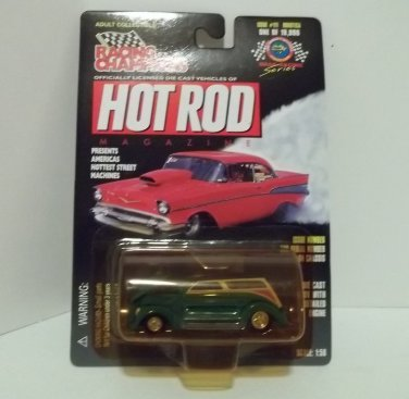 RACING CHAMPIONS HOT ROD 1:58 1936 FORD WOODIE BOXOTICA '36 #111 NRFP 1 OF 19,998