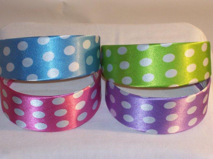 HEADBAND 4 lot of 2inch polka-dot head bands