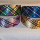 HEADBAND 4 lot of 2inch VINTAGE PLAID STYLE head bands