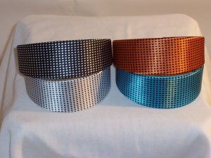 HEADBAND 4 lot of 2inch VINTAGE SMALL DOTS head bands
