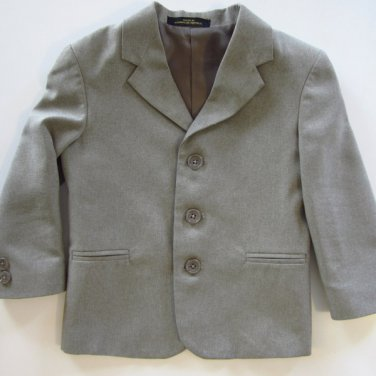 NEW TODDLER BOY AMHERST OATMEAL 3 BUTTON SUITCOAT 4T