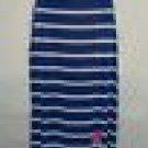 NEW DESTINY PLATINUM PULLOVER MAXI DRESS BLUE WHITE STRIPE S