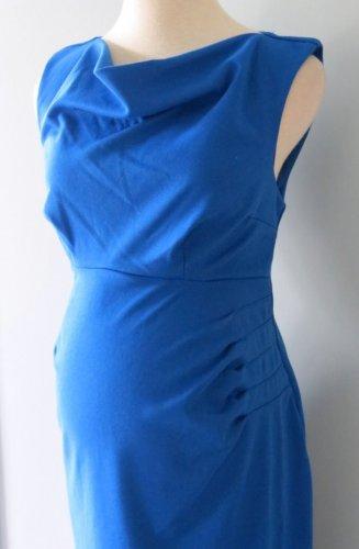 NEW LIZ LANGE MATERNITY PONTE KNIT DRESS BLUE L