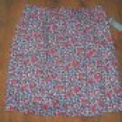 NEW Classic Elements Red Floral Cotton Woven Skirt S