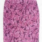 NEW Merona Purple Paisley Stretch lined Pencil Skirt 12